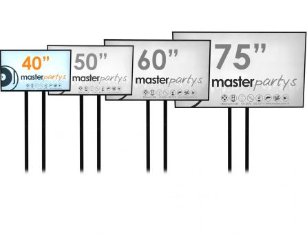 "Master Partys led tv scherm 40"" huren"