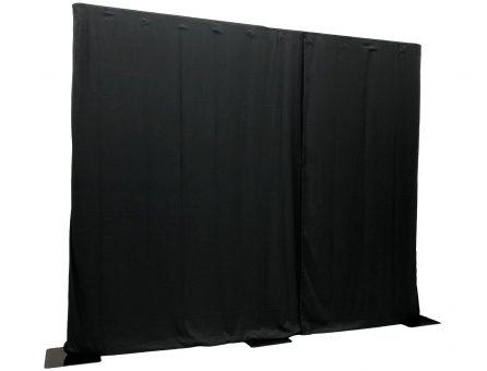 Master Partys pipe & drape zwart huren