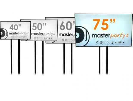 "Master Partys 75"" led tv scherm huren"