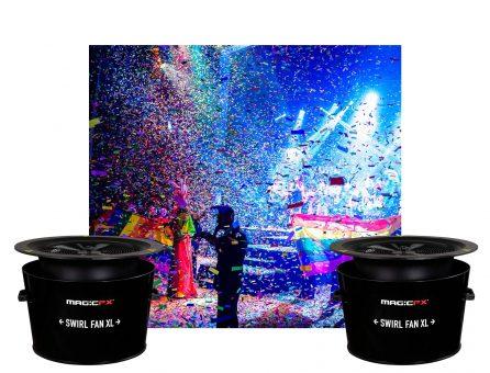 Master Partys confetti Swirl Fan set huren