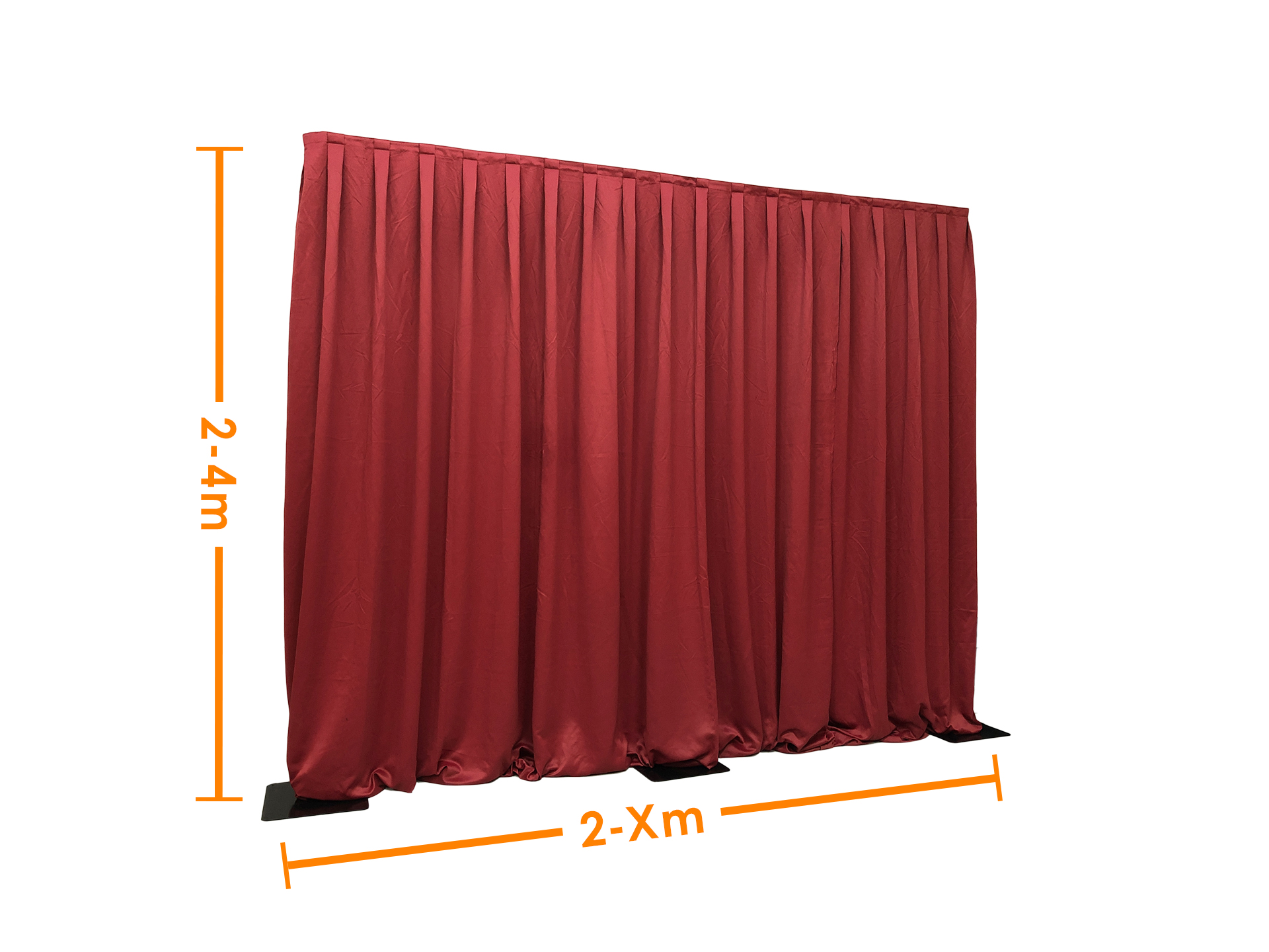 Master Partys pipe and drape rood huren