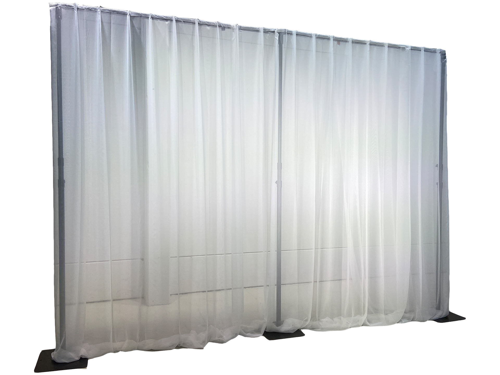 Master Partys pipe and drape wit voile huren