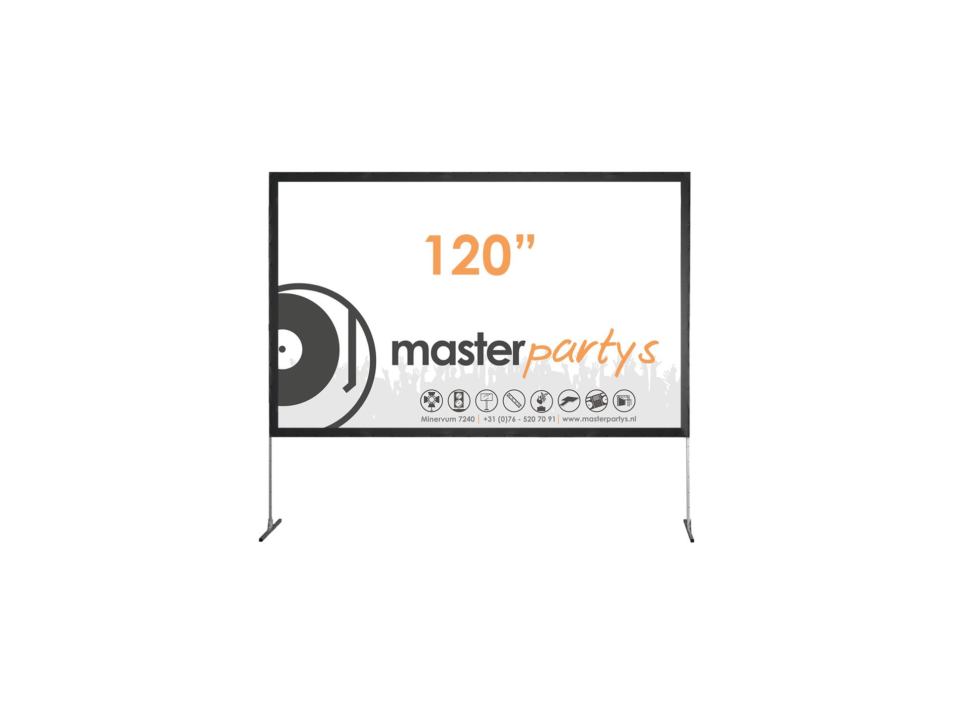 "Master Partys beamerscherm 120"" huren"