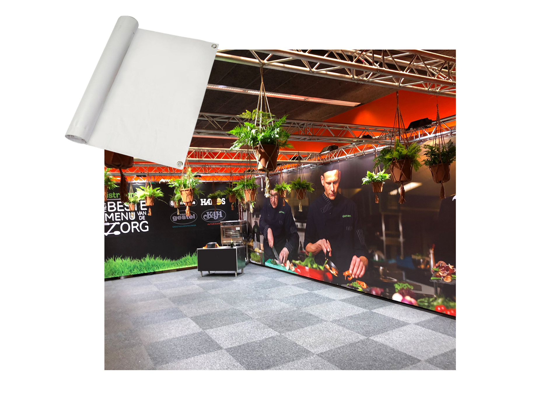Master Partys spandoek per m² kopen