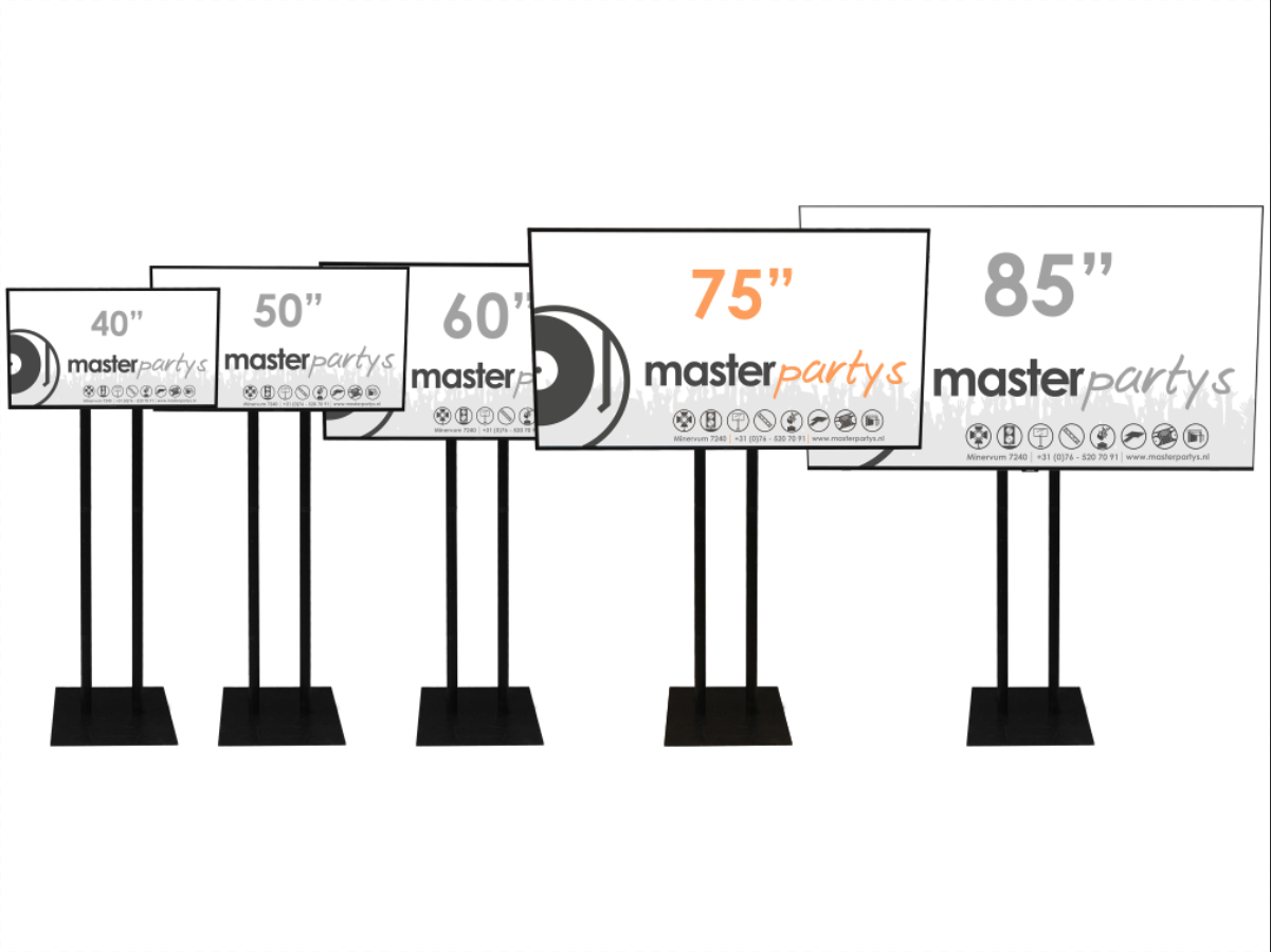 "Master Partys led tv scherm 75"" huren"